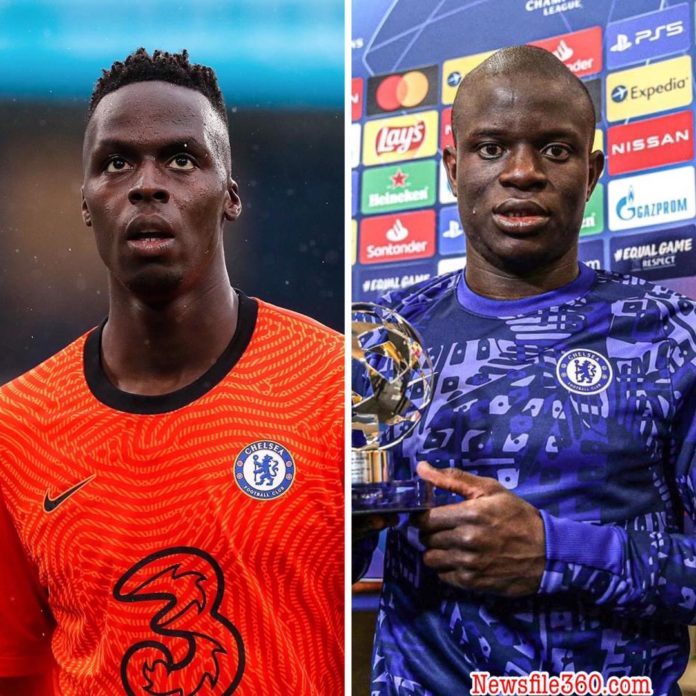 Edouard Mendy and N'Golo Kante returned to Chelsea training with the rest of the first-team squad at Cobham on Wednesday in a welcome boost ahead of Saturday's Champions League final.