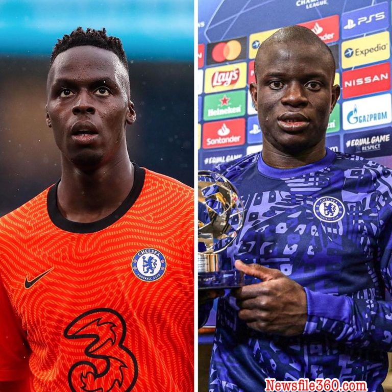 Edouard Mendy and N'Golo Kante return to Chelsea training ahead of Champions League final against Manchester City