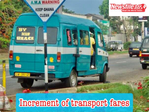 Transport fares increased by 13% effective June 5