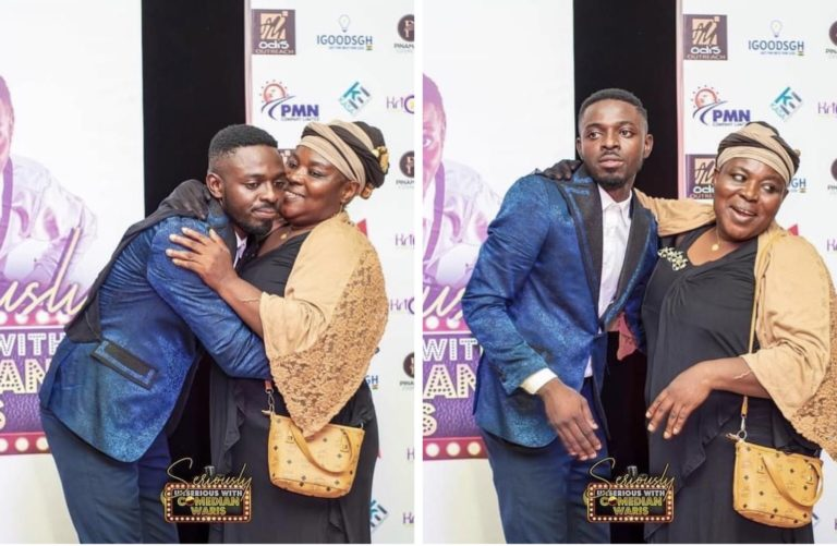 Mother surprises Comedian Waris at  'Seriously Unserious' show